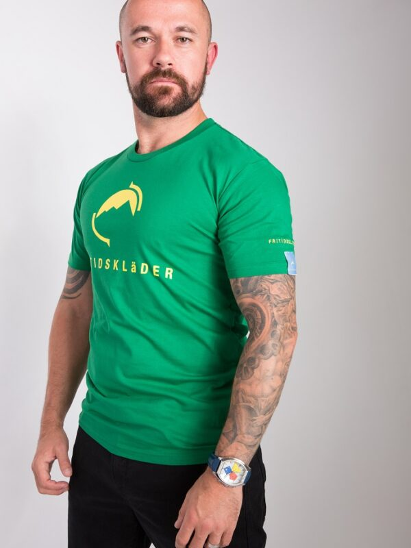 Kelly green football t-shirt
