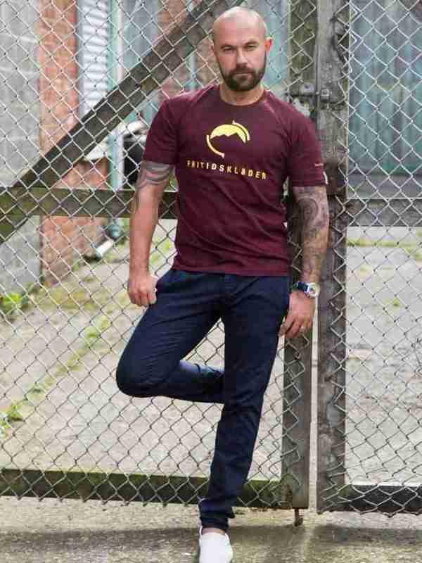Fritidsklader burgundy t-shirt