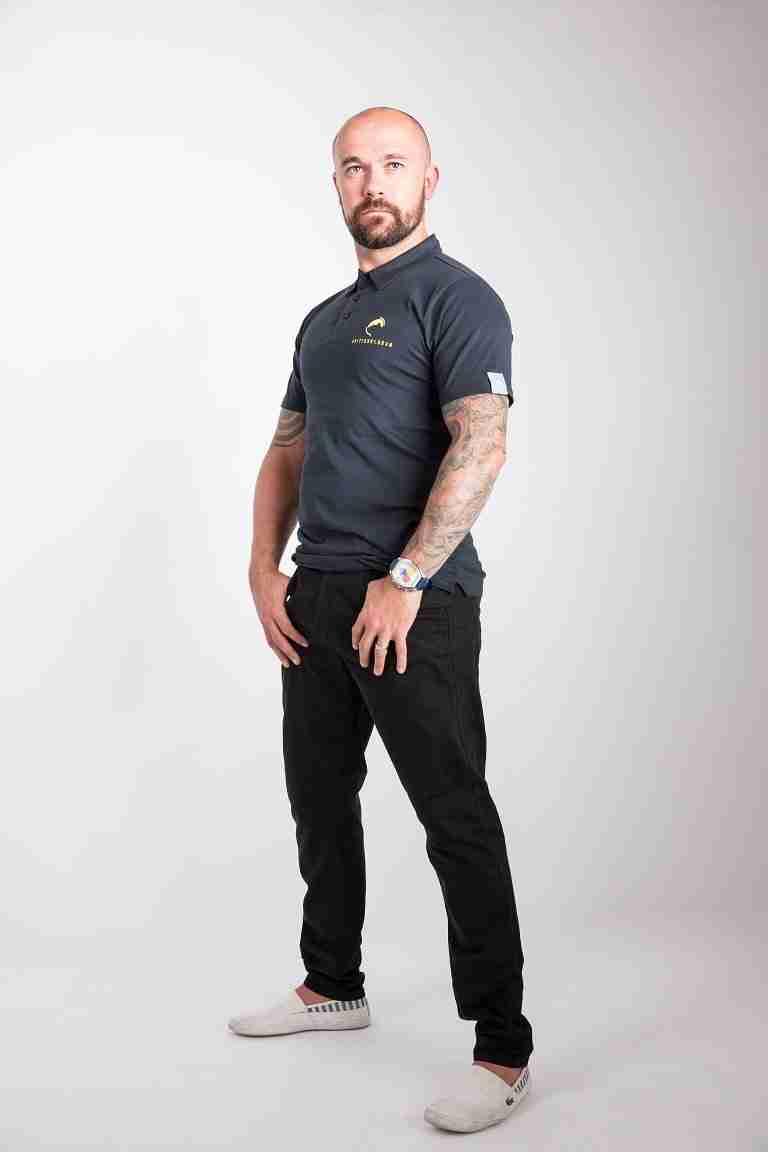 Fritidsklader navy blue polo shirt