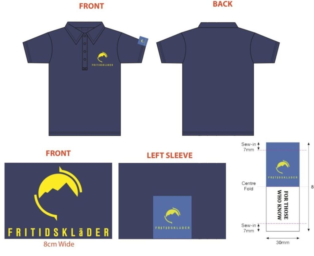 Fritidsklader Navy Polo Shirt For Those Who Know
