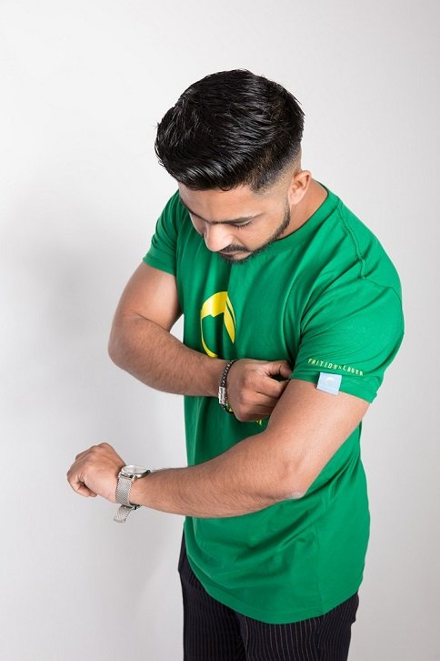 Terrace wear green t-shirt