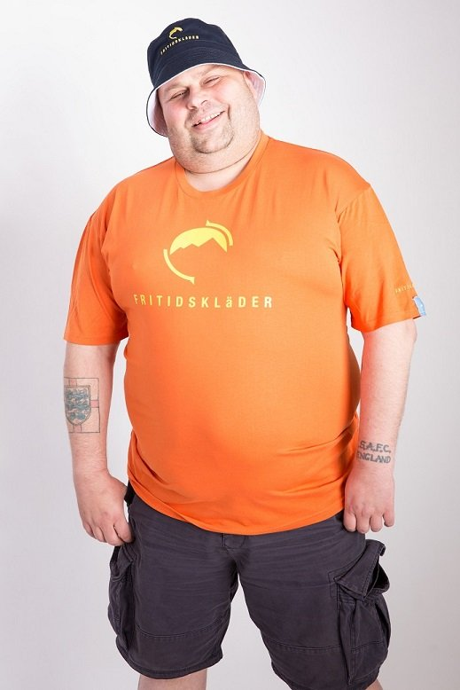 Fritidsklader orange t-shirt