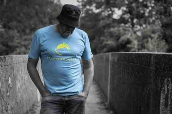 Fritidsklader Teal Blue T Shirt