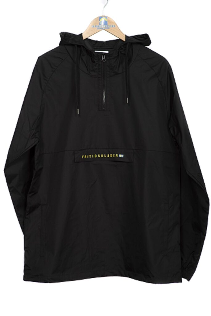Black Windbreaker Smock Pit to Pit Measurements