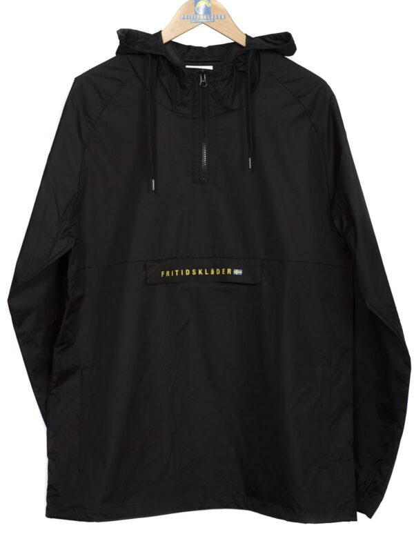 Black Windbreaker Smock