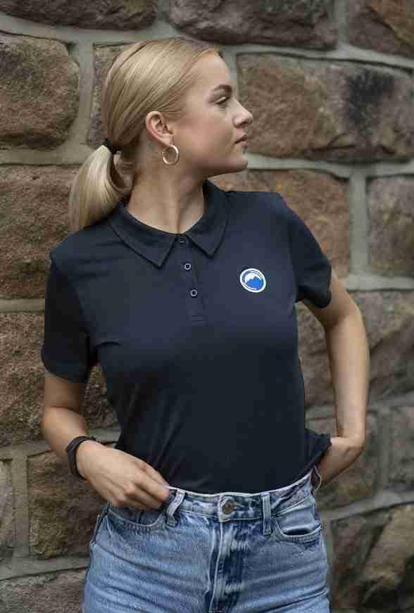 Women's polo shirt navy