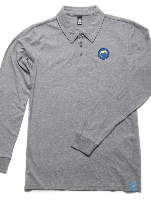 Long sleeve Polo shirt grey
