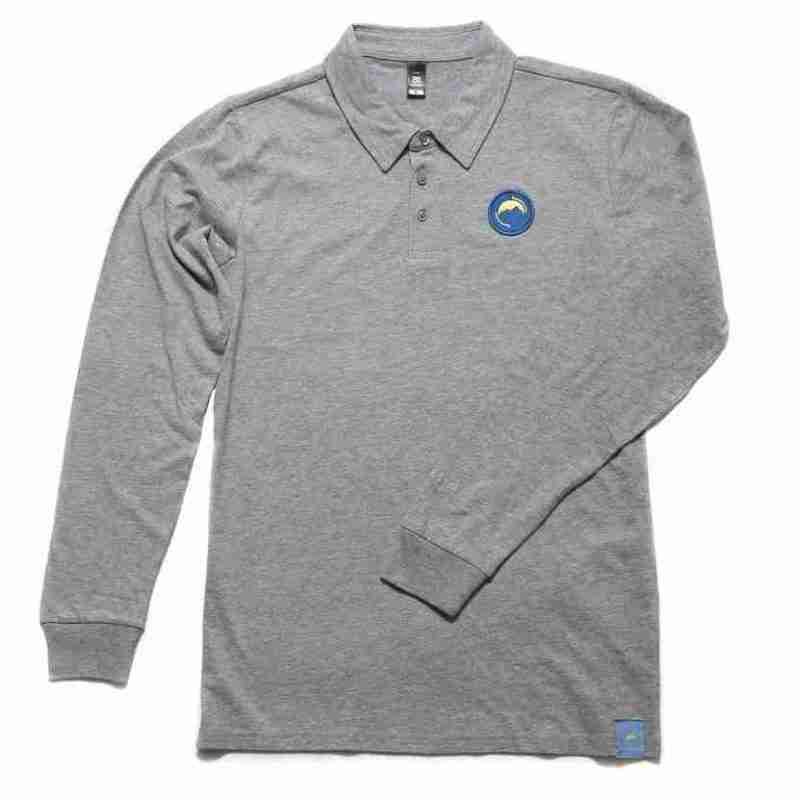Long sleeve Polo shirt grey