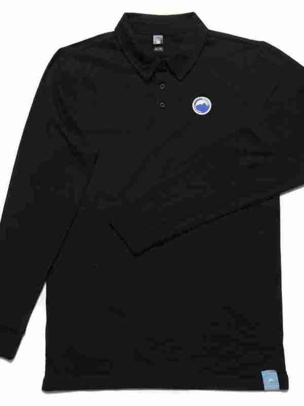 Fritidsklader long sleeve polo shirt black