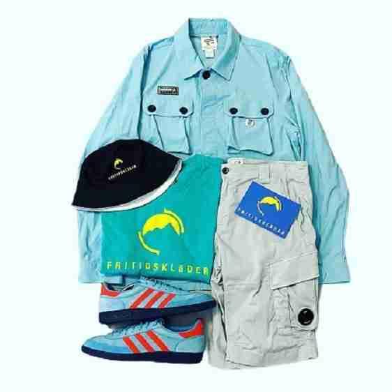 Adidas SPZL Gilbraith Overshirt x Adidas GT Manchester SPZL x FDR Teal Tee x FDR Bucket Hat x CP Company lens shorts
