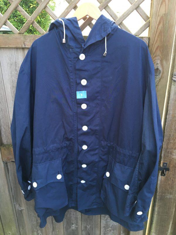 Navy Blue oversized overdyed Parka