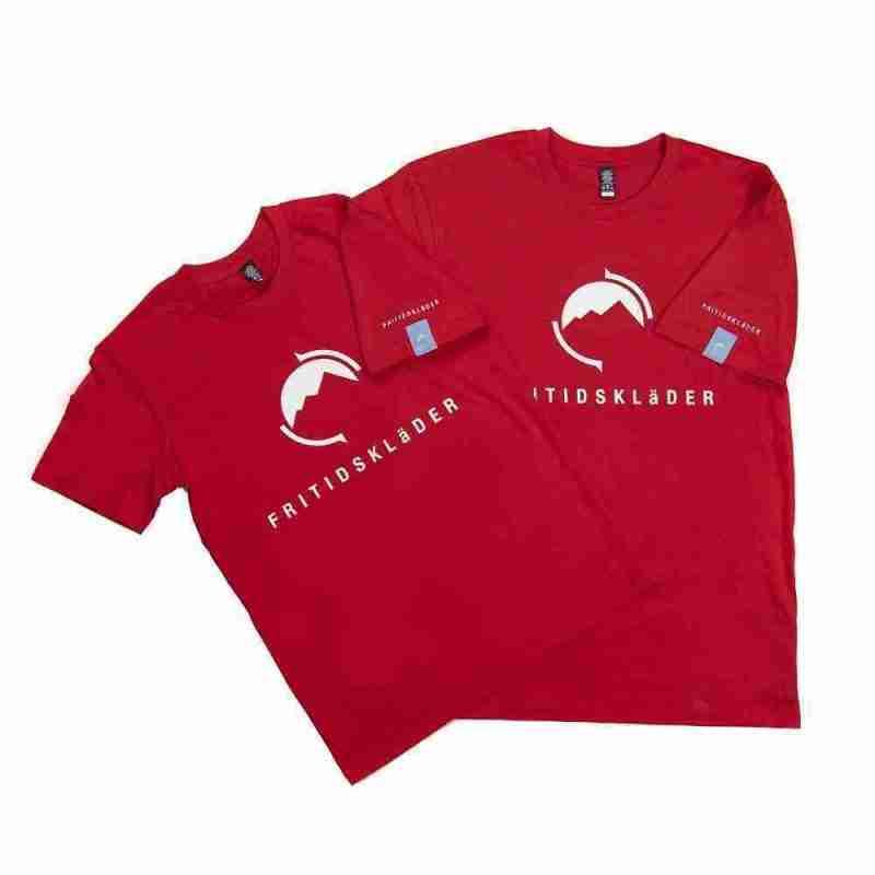 Fritidsklader red t shirt