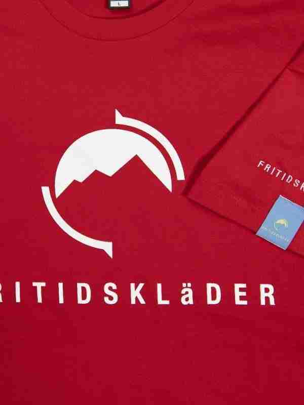 Fritidsklader red t shirt